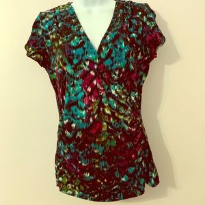 Side wrap multi color top